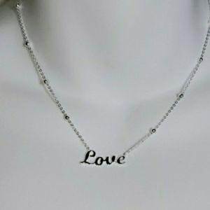 "Argento Vivo Sterling ""Love"" Necklace"